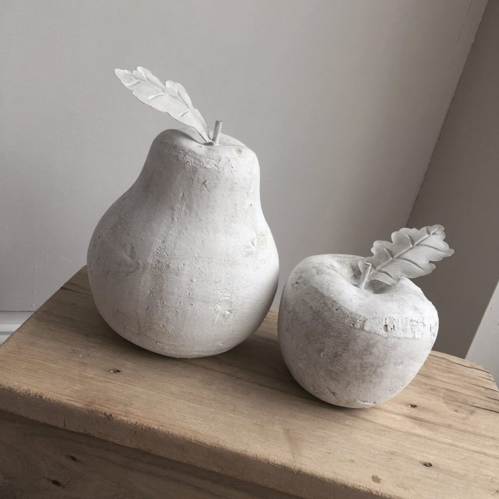 Large stone apples by Bristol based Pavilion Grey Interiors