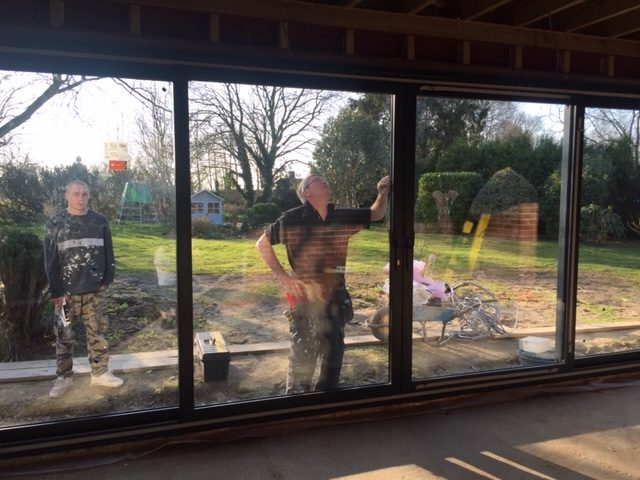 Anthracite sliding doors