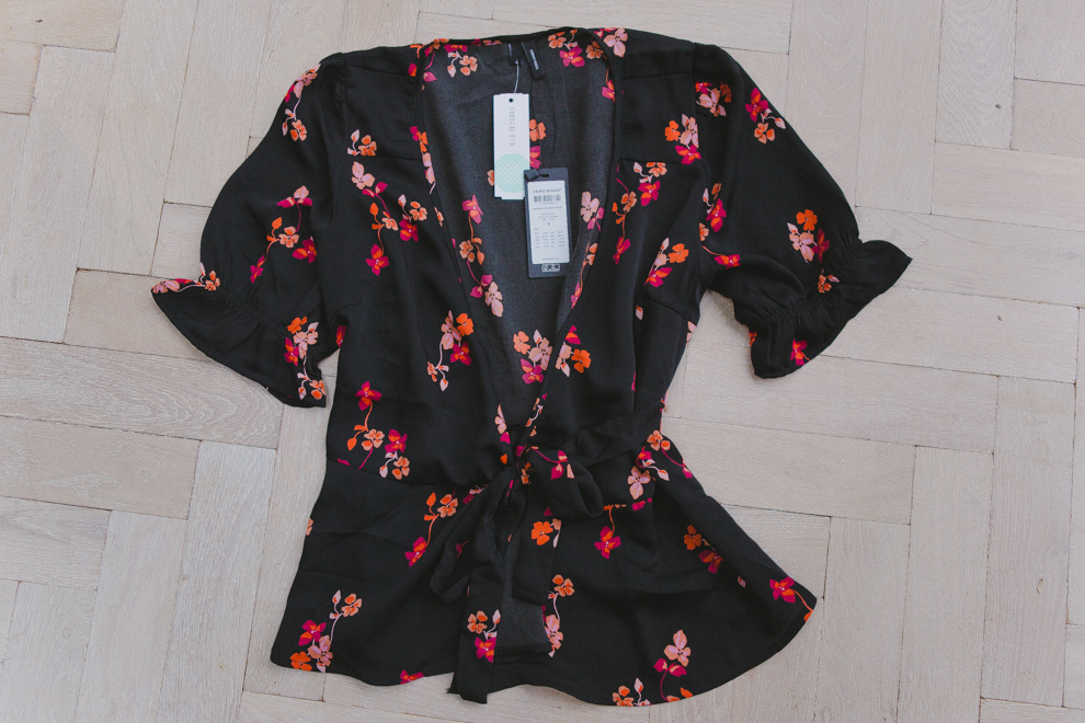 flowery top from Stitch fix