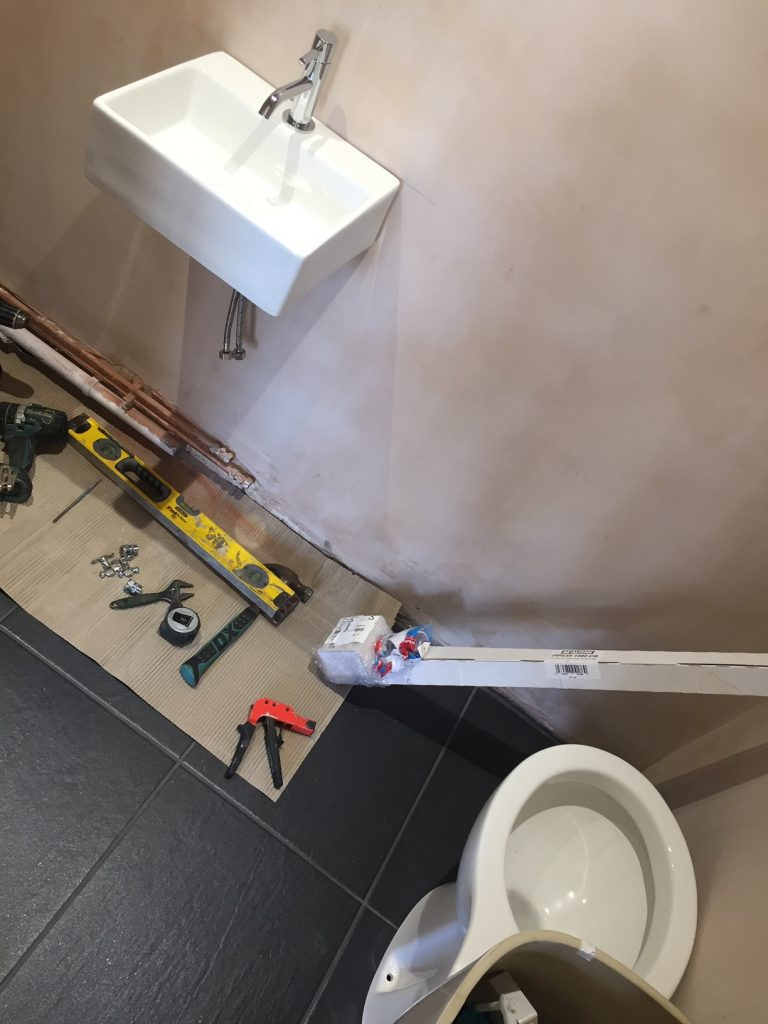 Renovating the downstairs toilet