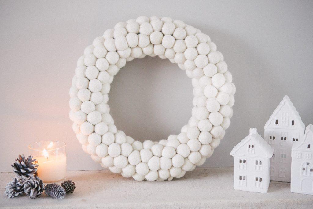 Christmas Ivory Wreath
